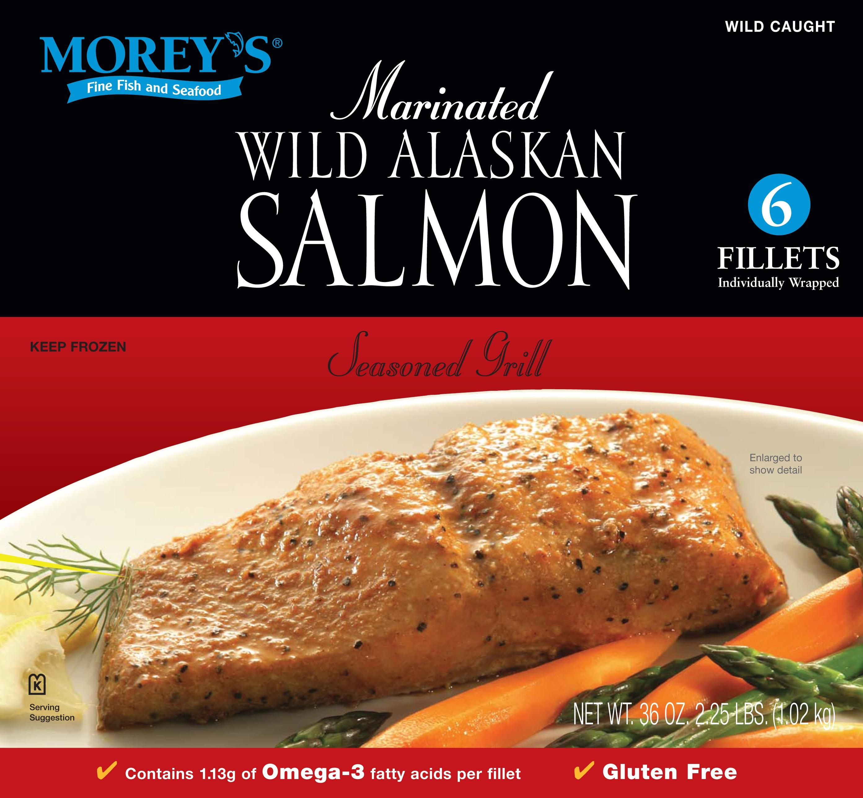 Seasoned grill wild alaskan salmon morey 39 s for Morey s fish