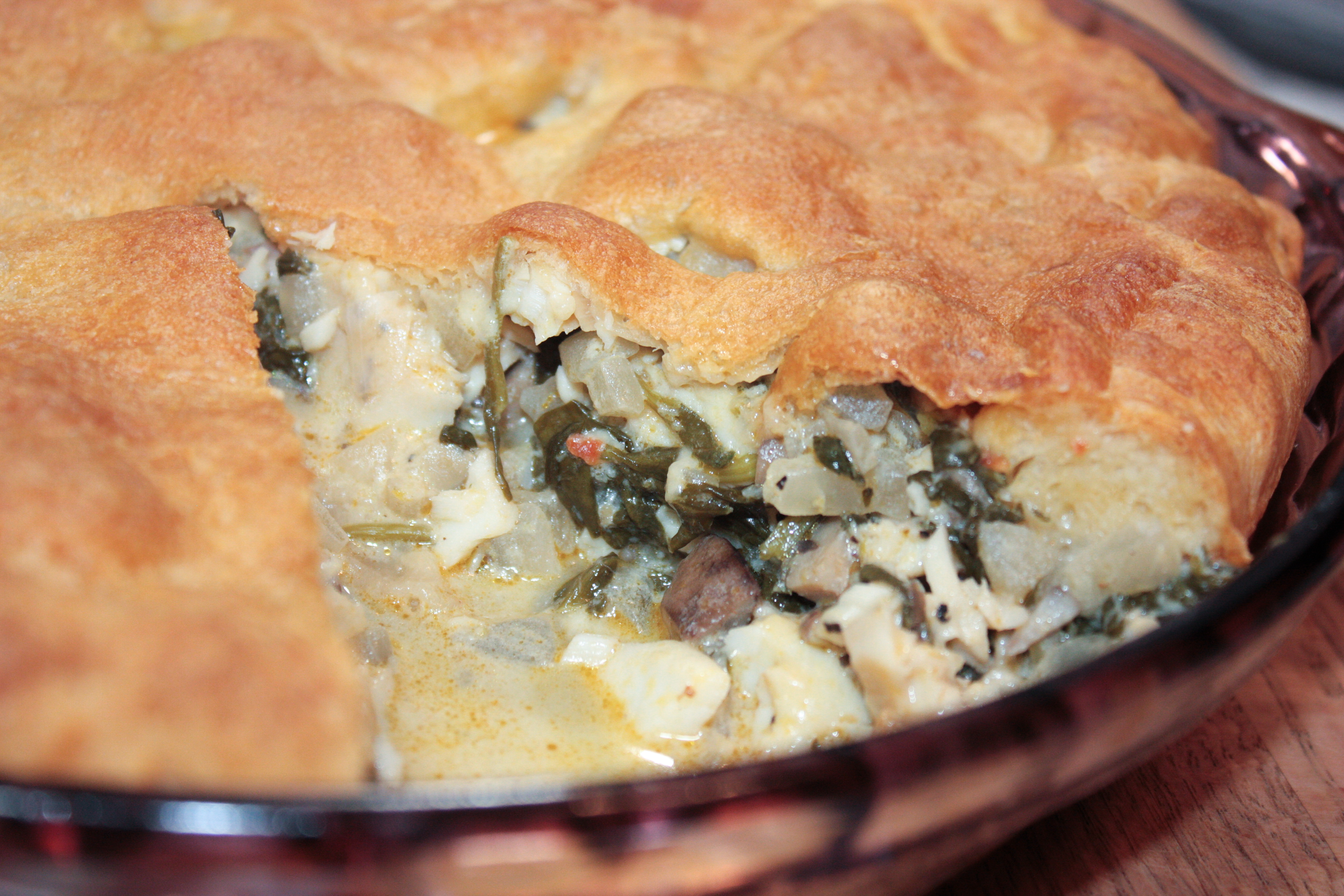 Spinach pot pie morey 39 s for Morey s fish