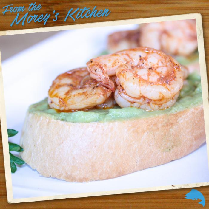 Avocado and shrimp crostini morey 39 s for Morey s fish