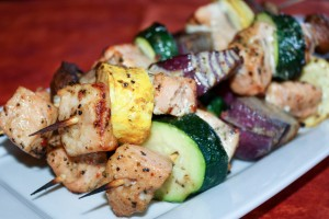 Grilled Salmon Skewers (1 of 2)