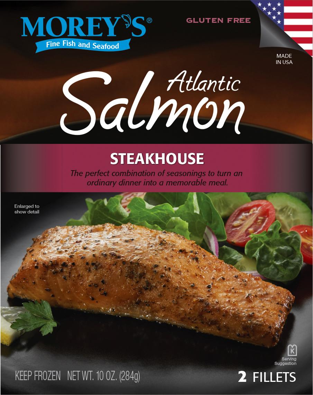 Steakhouse atlantic salmon morey 39 s for Morey s fish