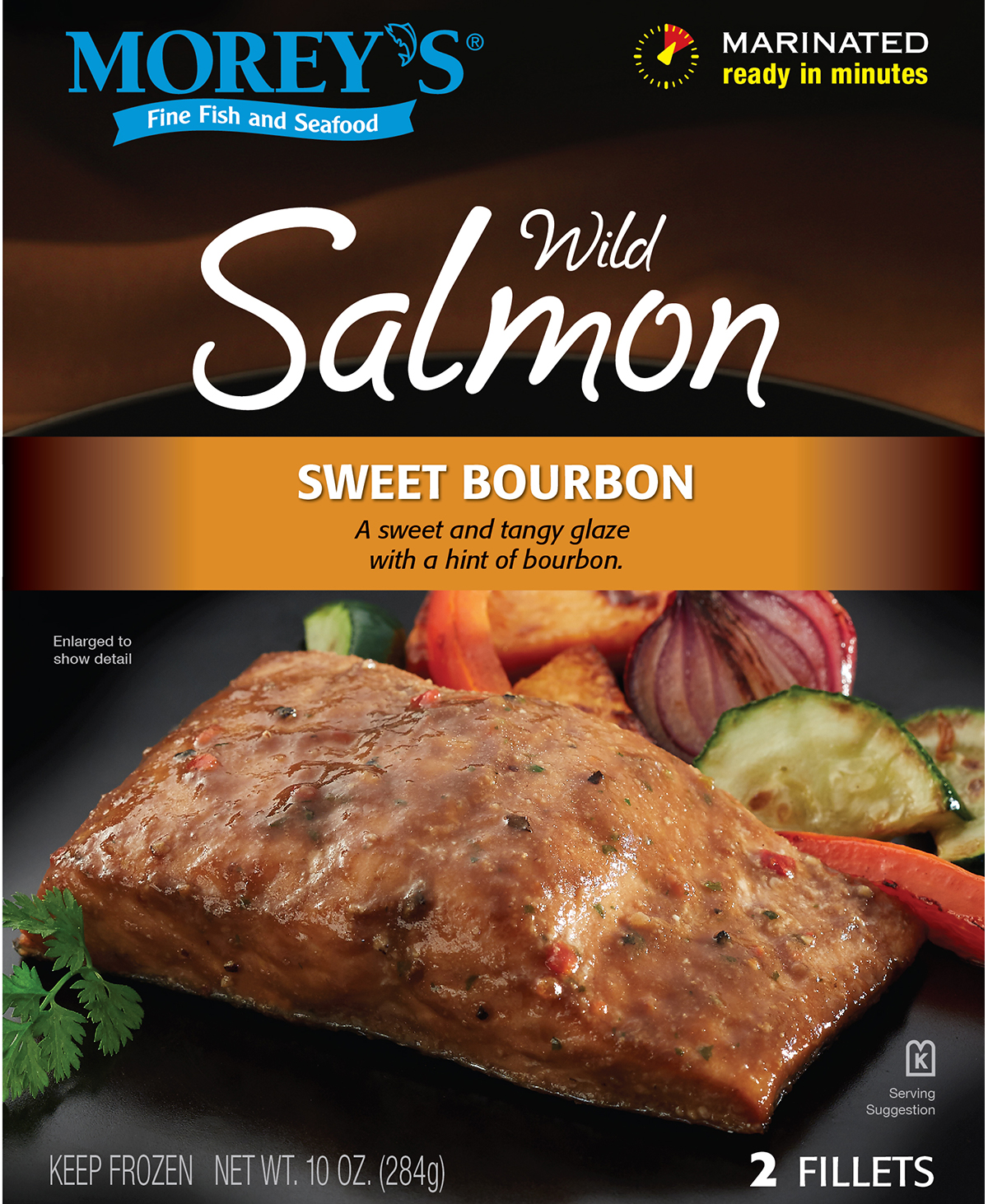Sweet bourbon wild salmon morey 39 s for Morey s fish