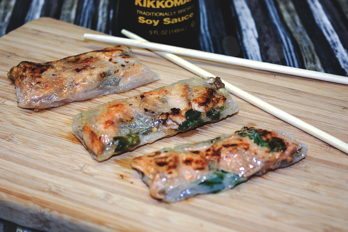 how to make crispy spring rolls with rice paper