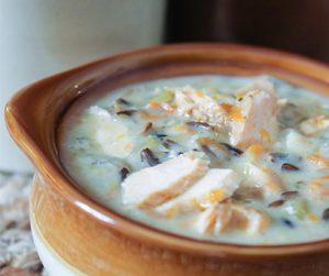 Instant Pot Salmon Mushroom Soup