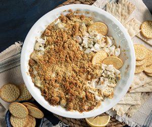 Cheesy Cod and Artichoke Dip