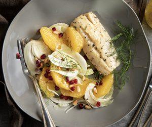 Cod and Maple Orange Salad