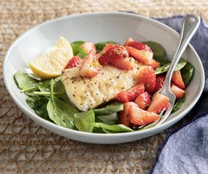 Herb Lemon Cod with Strawberries