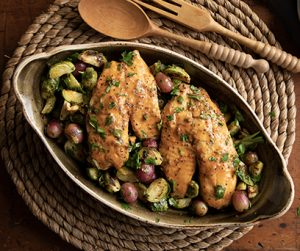 Tilapia and Brussels Sprouts Salad