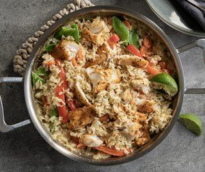 Thai Tilapia and Rice Skillet