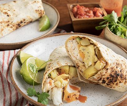 Tilapia Breakfast Burrito